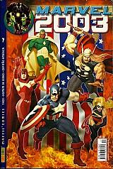 Marvel 2003 nº 7,  thor,  capitao americ,  capa dura e verniz