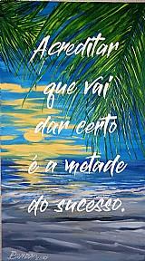 Quadro original pintado à oleo,   apenas r$ 129,  00 - frases