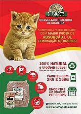 Eccopet-granulado higienico sanitario madeira gatos 15 kg biodegradavel