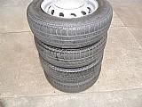 Corsa gm chevrolet roda ferro original aro 13 pneu usado jogo calota p.fumagalli cpa mooca