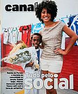 Tudo pelo social,  atriz sheron menezes,  revista canal extra nº 723