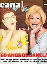 60 anos de janela,  hebe camargo,  homenageada premio tv 2010,  revista canal extra nº 656