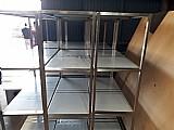 Prateleira inox para camera fria 1, 50 x 50 3 divisoes