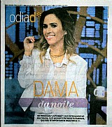 Dama da noite no programa lady night entrevista famosos,  dia d 10-04-2017