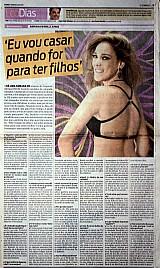 Eu vou casar (entrevista) e estava todo mundo,  materias com a atriz adriana birolli