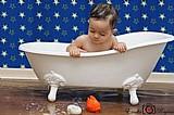 Banheira infantil, banheira vitoriana
