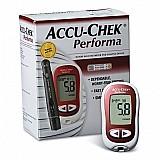 Kit medidor de glicemia accu chek performa completo