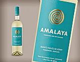 02 (duas) garrafas de vinho argentino amalaya blanco dulce de corte - 750 ml - safra 2016