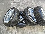 Rodas esportivas aluminio aro 17 pneus usados jogo bom estado peugeot 206 207 p.fumagalli cpa  mooca