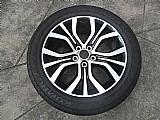 Roda original mitsubishi outlander aluminio aro 18 pneu usado p.fumagalli cpa mooca