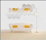 Espelho decorativo acrilico hexagonos 12 pecas