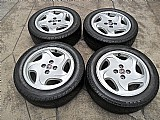 Jogo rodas originis fiat tempra hlx aro 15 aluminio pneus usados 195/55r15 dunlop p.fumagalli cpa mooca