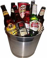 Cesta de cerveja importada