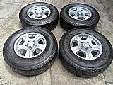 Roda aluminio aro 15 blazer s10 gm  originais genuinas chevrolet pneus usados 235/75r15 goodyear p.fumagalli cpa mooca