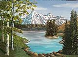 Quadro paisagem - picos nevados