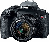 Camera canon t7i c/ 24.2 mp, wi-fi,  nfc,  filma em full hd e lente 18-55mm