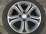 Roda original peugeot 207 aluminio aro 16 pneu usado p.fumagalli cpa mooca