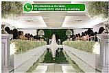 Passarela espelhada tapete para passagem da noiva