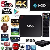 Google tv box mx9 4k android 6.0 smart usb netflix youtube promoção