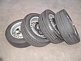 Roda orginal meia tala larga do fusca aro 15 ferro pneu usado jogo goodyear  p.fumagalli cpa mooca