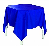 Toalha de mesa cor branca barra overlocada -  metragem de 1.50x1.50