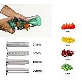 Cortador de legumes em espiral com 4 laminas - spiro veggie