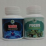Mstop! kit para tireoide fucus 60 cápsulas 500mg   tireoide 100 cápsulas.
