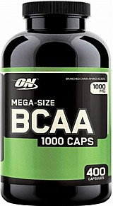 Bcaa 1000mg 200 capsulas optimum nutrition
