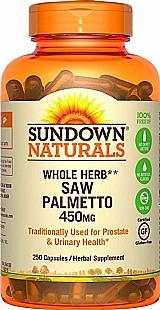 Saw palmetto 450mg 250 capsulas sundown naturals