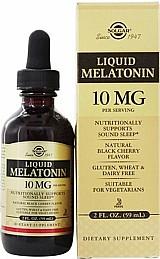 Melatonina liquida 10mg sabor natural de cereja preta 59ml solgar