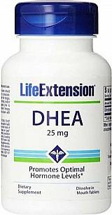 Dhea 25mg (sublingual) (melhor absorcao) 100 comprimidos life extension