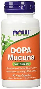 Dopa mucuna 90 capsulas vegetarianas now foods