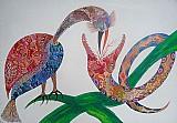 Quadro pintura garcia arte naif