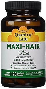 Maxi-hair plus 120 capsulas vegetarianas country life