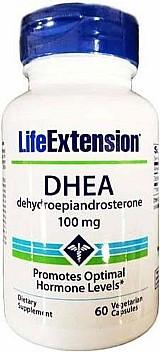 Dhea 100mg,  grau farmaceutico,  60 capsulas,  life extension