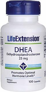 Dhea 25mg grau farmaceutico 100 capsulas life extension