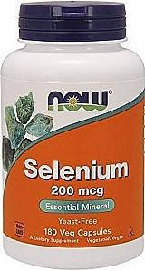 Selenio 200mcg 180 capsulas vegetarianas now foods