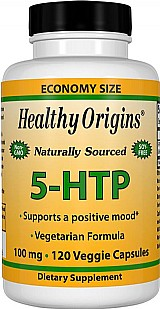 5-htp 100mg,  120 capsulas vegetarianas,  healthy origins