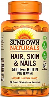 Hair,  skin & nails (cabelo,  pele e unhas) 120 comprimidos sundown naturals