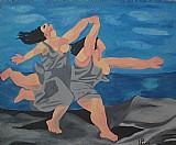 Releitura da duas mulheres que correm na praia