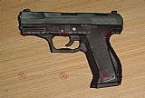 Pistola p99 black 007 p.p - brinquedo