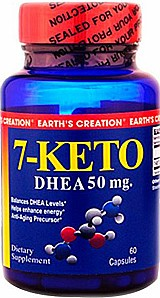 7-keto dhea 50mg 60 capsulas earths creation