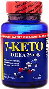 7-keto dhea 25mg 60 capsulas earths creation