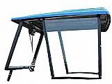 Capota agricola azul itens de série:  limpador dianteiro, para capota fechada com frente; vidros temperados verdes ou fumês