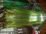 Vaso em cristal verde anos 40 (art deco) impecavel estado