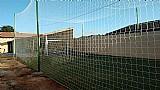 Rede para cobertura de campo de futebol e quadra society e futsal
