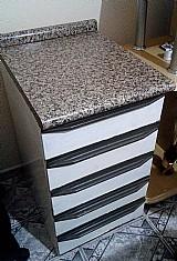 Armario 5 gavetas aco e tampa de formica usado