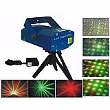 Mini laser stage lighting projetor holografico luz de festa