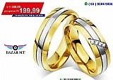 Bazar mt - par de aliancas namoro ( cuiaba mt ) compromisso barato ouro banhado 18k exclusivo