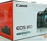 Camera canon eos 80d com lente objetiva 18-135 mm